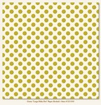 My Minds Eye - Lush - Green Large Polka Dot Paper (flocked)