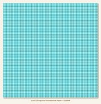 My Minds Eye - Lush - Turquoise - Houndstooth Paper