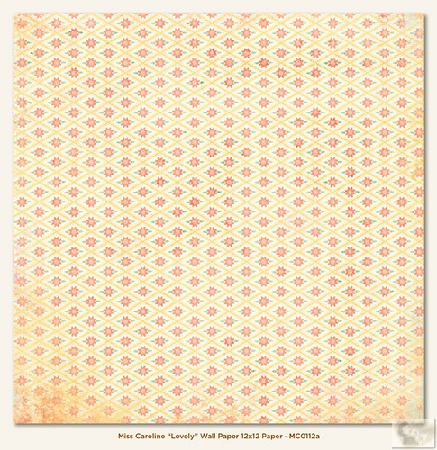 My Minds Eye - Miss Caroline - Howdy Doody - Lovely Wall Paper 12 x 12 Double Sided Paper