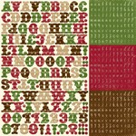Echo Park - Merry Christmas - 12x12 Alpha Sticker