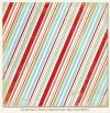 My Minds Eye - The Merry Days of Christmas Peppermint Stripes Paper