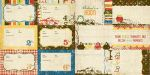 Simple Stories by Memory Works - Elementary - 4x6 School Year Journaling Card Elements #1 12x12 Double Sided Patterned Paper