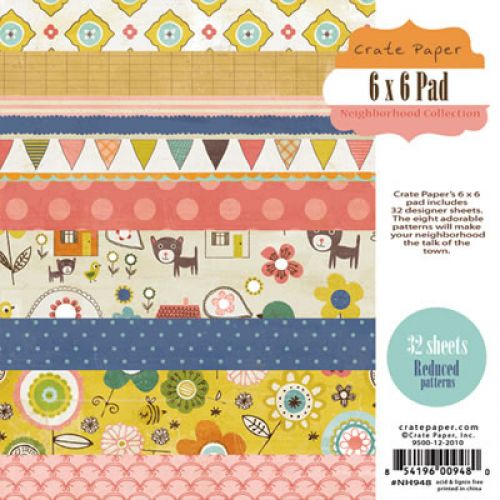 Crate Paper - Neighborhood Collection - 6x6 Paper Pad