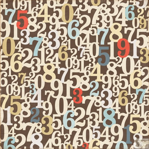 Echo Park - Note to Self Numbers Patterned Paper