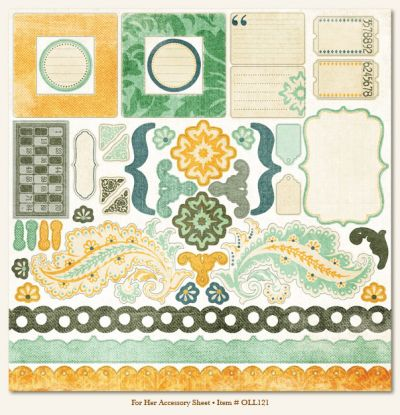 My Minds Eye - Ooh La La - For Him Accessory Sheet