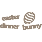 Plain Jane - Chipboard Laser Cuts - Easter