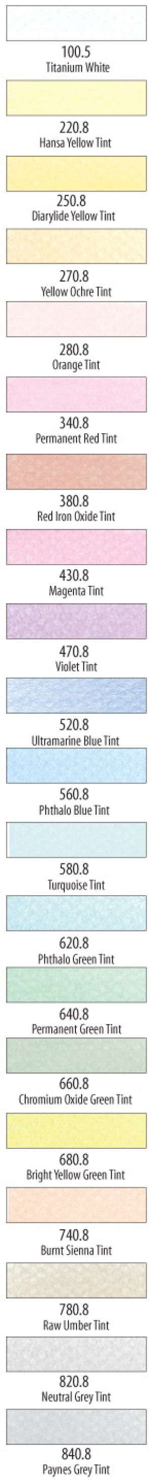 PanPastel Pure Colors/Tints Set 30204