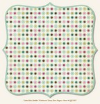 "My Minds Eye - Quite Contrary - Little Miss Muffett -""Celebrate"" Party Dots Paper"