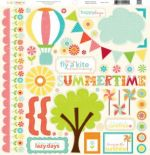 Echo Park - Sweet Summertime - 12x12 Elements Sticker