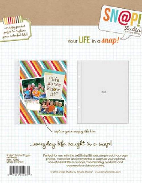 "Simple Stories Sn@p! 6"" x 8"" Pocket Pages"