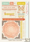 My Minds Eye - The Sweetest Thing - Tangerine - Together Stickers