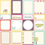 Echo Park - Springtime - Journaling Cards Paper