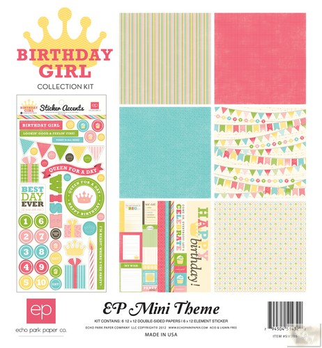 Echo Park - EP Mini Themes - Birthday Girl Collection Kit