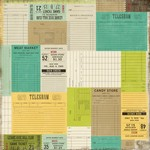 Echo Park - This and That Charming - Tickets Please Patterned Paper