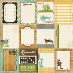 Echo Park - This and That Charming - Journaling Cards Patterned Paper