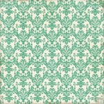 Echo Park - This and That Graceful - Teal Damask Patterned Paper