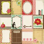 Echo Park - This and That Graceful - Journaling Cards Patterned Paper