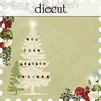 Websters Pages - Waiting for Santa -12 x 12 Diecut Paper