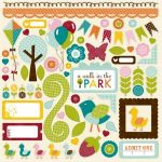 Echo Park - Walk in the Park - 12x12 Elements Sticker