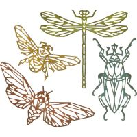 Sizzix  - Thinlits - Tim Holtz - Alterations - 4/Pkg - Geo Insects