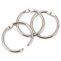 "Clear Scraps Chrome Book Ring 1 1/2"" - 1 Ring Pack"