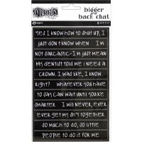 Ranger - Dyan Reaveley's Dylusions Bigger Back Chat Stickers - Black