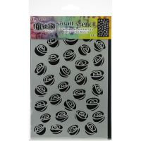 "Ranger - Dylusions - By Dyan Reaveley - Dylusions Stencils 5""X8"" - Garden Of Roses"