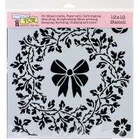 The Crafters Workshop - 12 x 12 Template - Big Wreath