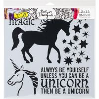 The Crafters Workshop - 12 x 12 Template - Unicorn
