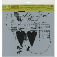 The Crafters Workshop - 12 x 12 Template - Two Hearts