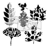 The Crafters Workshop - 12 x 12 Template - Leaf Collection