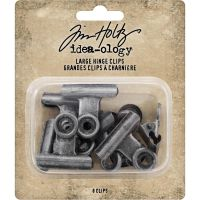 Tim Holtz - Idea-Ology - Metal Hinge Clip Large 8/Pkg