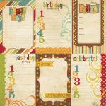 Simple Stories - Happy Day - 4x6 Vertical Journalling Card Elements