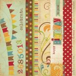 Simple Stories - Happy Day - 2x12 Border & 4x12 Title Strip Elements