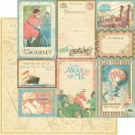 "Graphic 45 - Come Away With Me Collection - 12"" x 12"" Paper - Vintage Voyage"