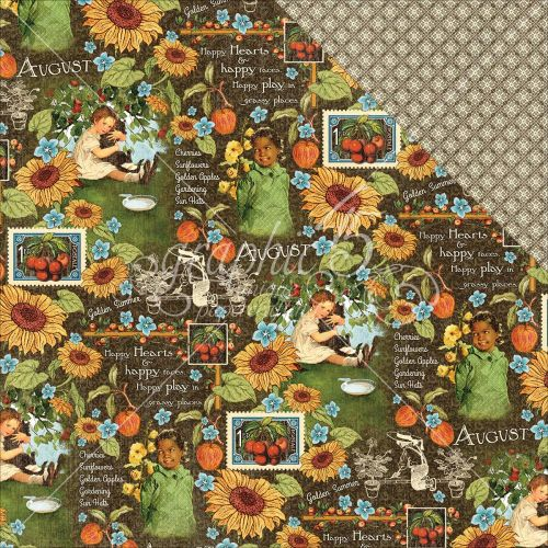 "Graphic 45 - Children's Hour Collection - Double-Sided Cardstock 12""X12"" - August Montage"