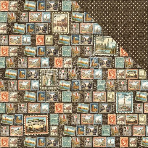 "Graphic 45 - Cityscapes Collection - Double-Sided Cardstock 12""X12"" - Well Traveled"