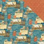 "Graphic 45 - Cityscapes Collection - Double-Sided Cardstock 12""X12"" - Passport To The World"