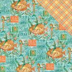 "Graphic 45 - Voyage Beneath the Sea Collection - Double-Sided Cardstock 12""X12""- Neptune's Adventure"