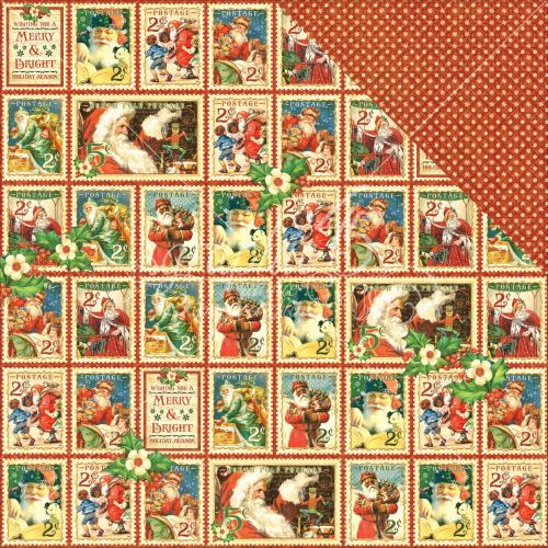 "Graphic 45 - St Nicholas Double-Sided Cardstock 12""X12"" - Christmas Cheer"