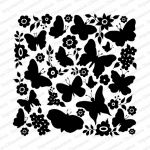 Impression Obsession - Cover-A-Card - Cling Mount Rubber Stamp - Butterfly Garden