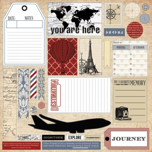 Teresa Collins Designs - Far & Away - 12x12 Die Cut Sheet