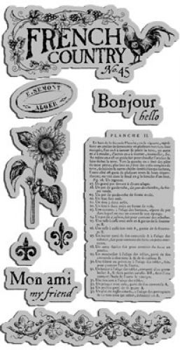 Graphic 45 - French Country Collection - Cling Rubber Stamps - French Country 1