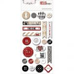 Teresa Collins Designs - Hello My Name Is - Decorative Buttons