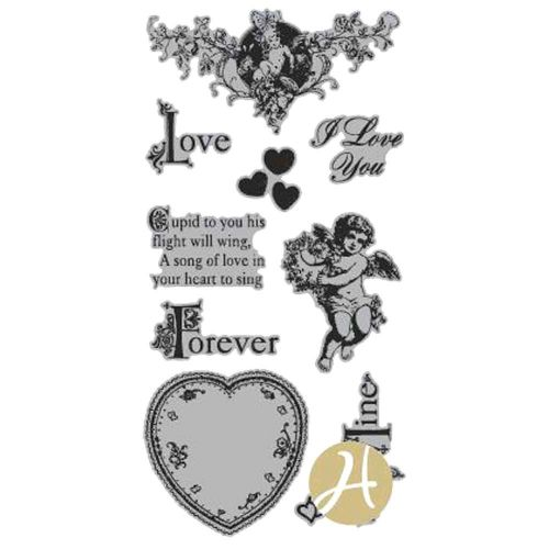 Graphic 45 - Sweet Sentiments - Sweet Sentiment 2 (valentine/Love) Rubber Stamps