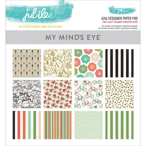 My Mind's Eye - Mint Julep Jubilee Collection - 6x6 Paper Pad