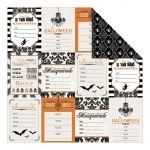 "Teresa Collins Designs - Masquerade Party Double-Sided Cardstock 12""X12"" - Halloween Invitations"