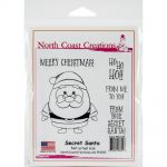 "North Coast Creations - Secret Santa - Cling Rubber Stamps 5""X6.75"""