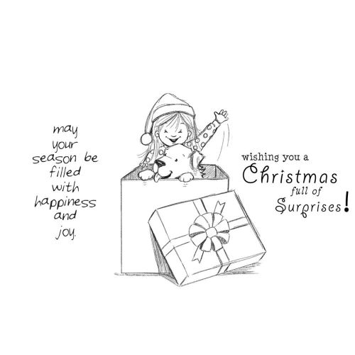 "Unity Stamps - Phyllis Harris Cling Rubber Stamp Set 5.5""X7.25"" - Christmas Surprise"