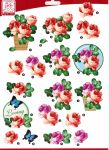 "Sullivans - 3D Die-Cut Decoupage Sheet 8.3""X11.69"" - Flowers Loving"